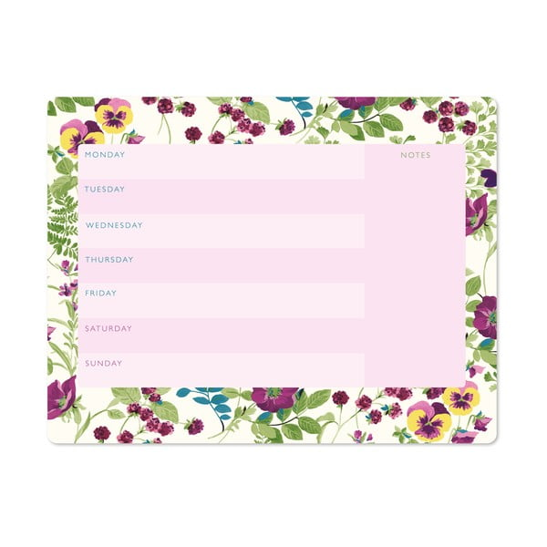 Týždenný plánovač Laura Ashley Parma Violets by Portico Designs, 54stránok
