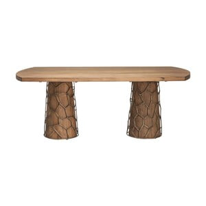 Jedálenský stôl z akáciového dreva Kare Design Brass