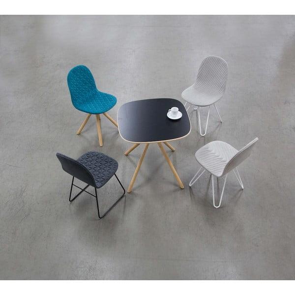 Tmavosivá stolička s prírodnými nohami IKER Mannequin Triangle