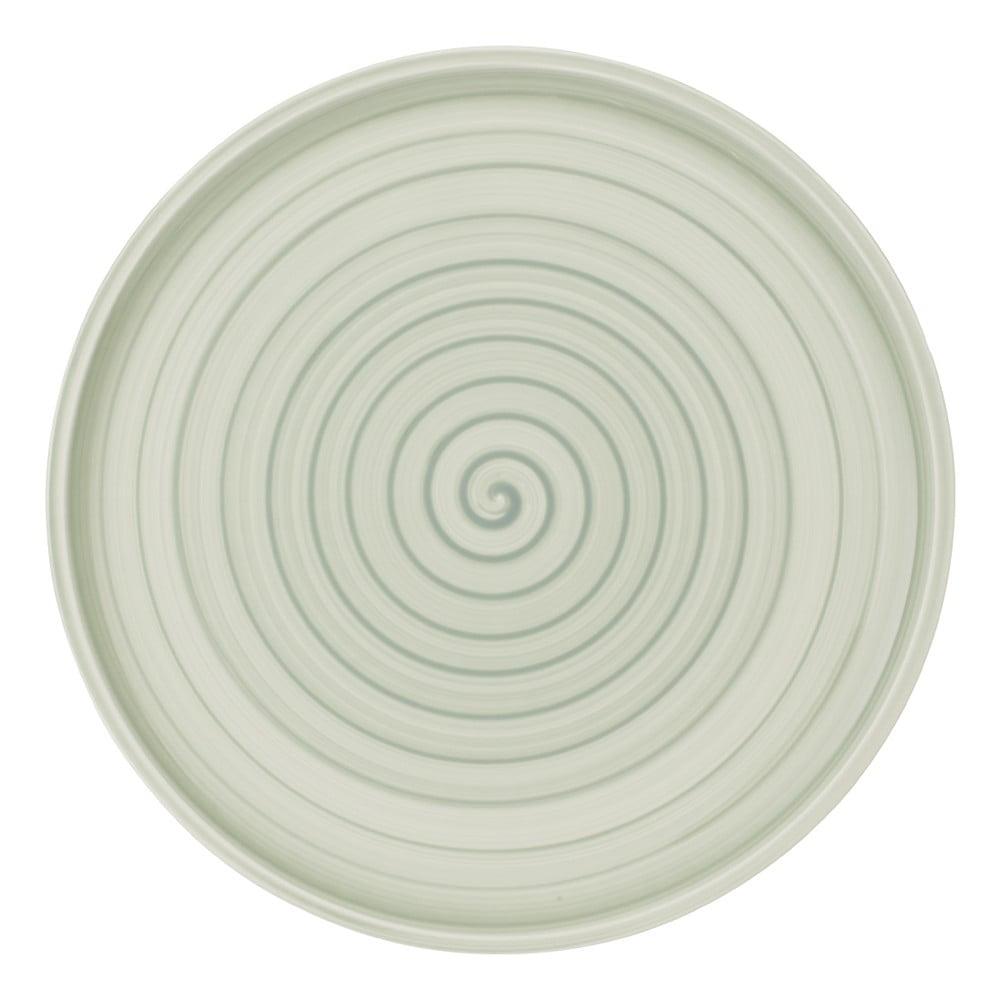 Zeleno-biely porcelánový tanier Villeroy & Boch Artesano Nature, 32 cm