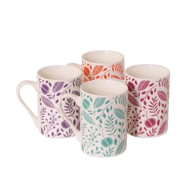 Sada 4 porcelánových hrnčekov Arabella