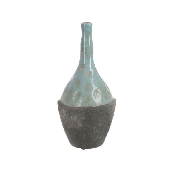 Váza Bottle In Grey and Blue, 35 cm