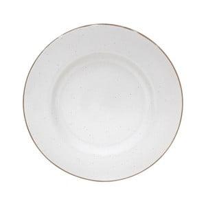 Biely servírovací tanier z kameniny Casafina Sardegna, ⌀ 34 cm