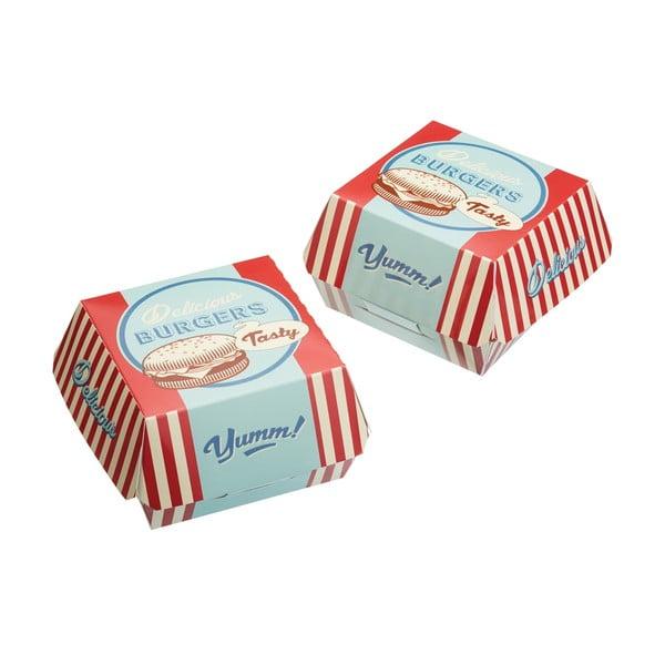 Sada 6 krabičiek na hamburgery Stateside