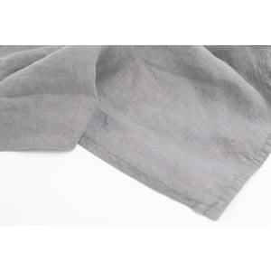 Sada 4 sivých bavlnených prestieraní s prímesou ľanu L'Officiel Interiors Manaus, 37 × 48 cm