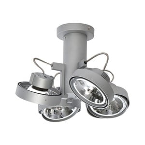 Sivé stropné svetlo so štyrmi bodovkami ETH Lofar Octopus