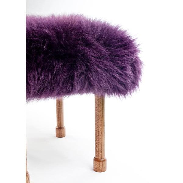 Stolička z ovčej kože Myfanwy Aubergine