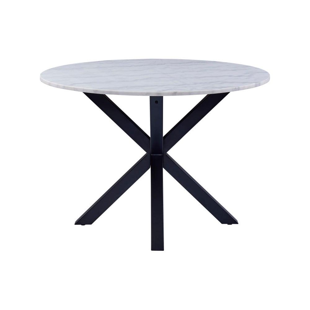 Jedálenský stôl s mramorovou doskou Actona Heaven, ⌀ 110 cm