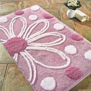 Ružová predložka do kúpeľne Confetti Bathmats Alinda, 60 x 100 cm