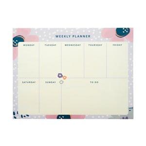 Týždenný plánovač Busy B Planner Pretty/Floral, 60 listov