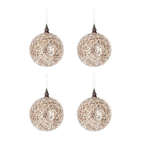 Set 4 dekorácií Glitter Balls S