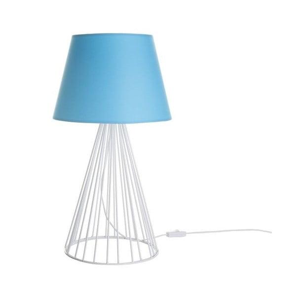 Stolná lampa Wiry Blue/White