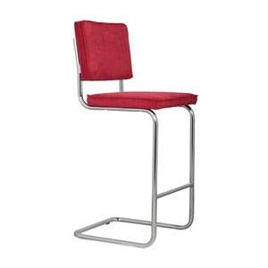 Červená barová stolička Zuiver Ridge Rib