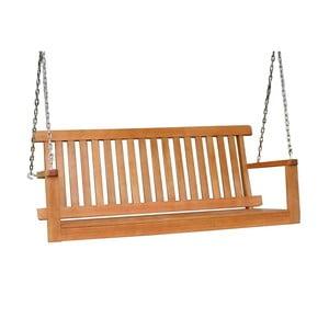 Záhradná závesná lavica z eukalyptového dreva ADDU Columbia