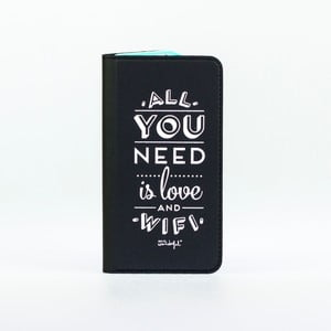 Čierne puzdro na iPhone 6 Mr. wonderful Love
