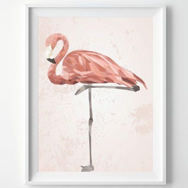 Plagát Pink Flamingo, A3
