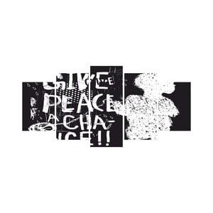 Viacdielny obraz Black&White no. 49, 100x50 cm