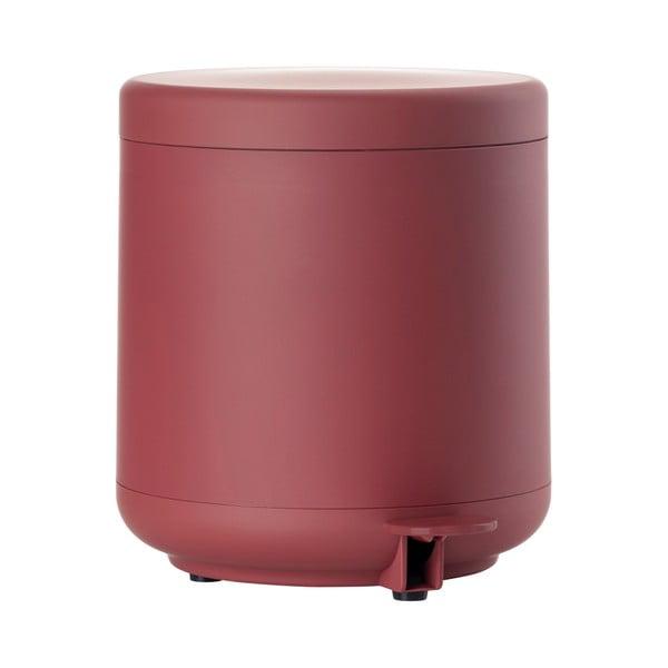 Červený kúpeľňový odpadkový kôš s pedálom Zone UME, 4 l
