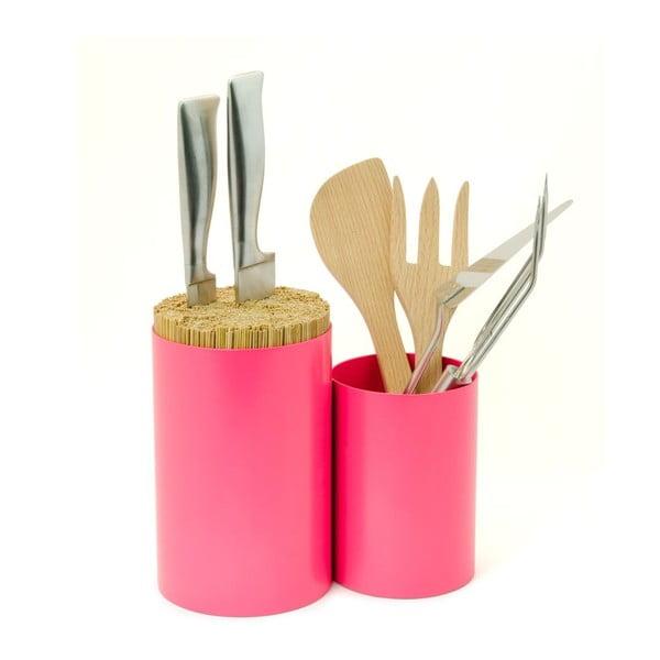 Blok na nože a kuchynské náčinie Knife&Spoon Pink