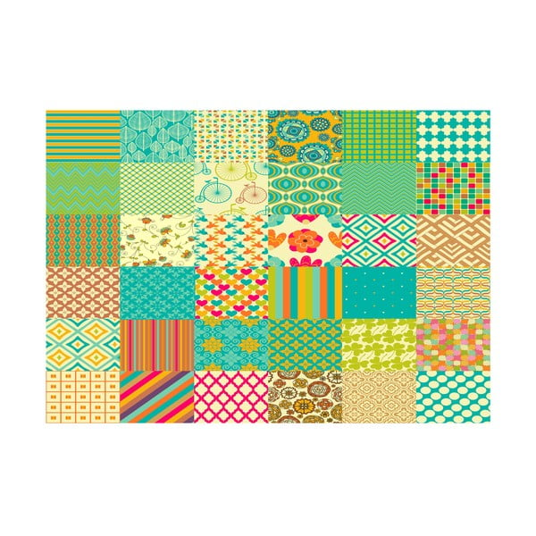 Koberec z vinylu Cuadros Texturas Retro, 100x150 cm