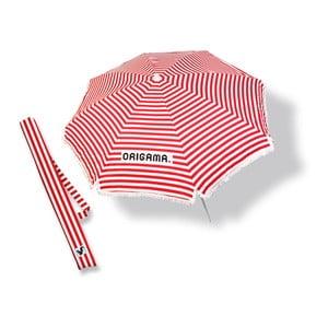 Plážový slnečník Fun Brella Red Stripes