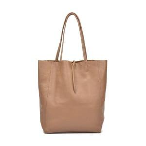 Hnedá kožená kabelka do ruky aj na rameno Anna Luchini Luciana