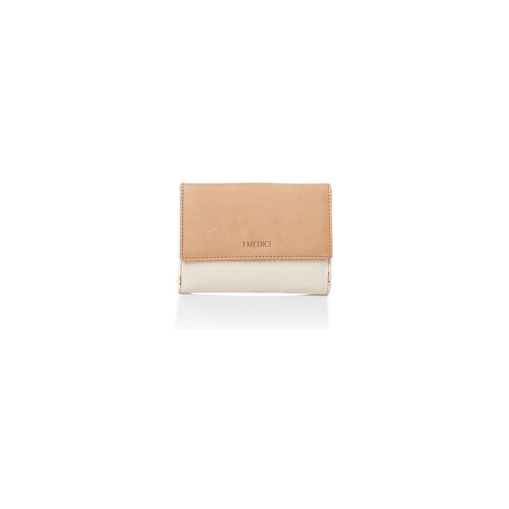 281a939708 Bielo-béžová kožená dámska peňaženka Medici of Florence Sisto