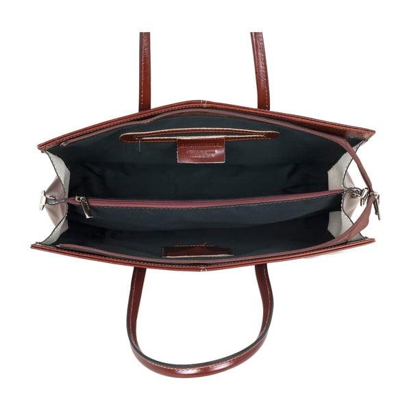 Kožená kabelka Ore Diece Olbia, hnedá