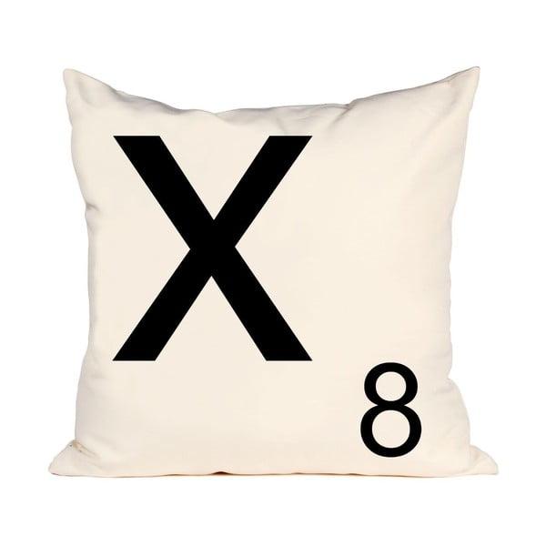 Písmenkový vankúš Letra X, 50x50 cm