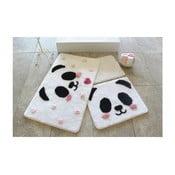 Sada 3 kúpeľňových predložiek Panda