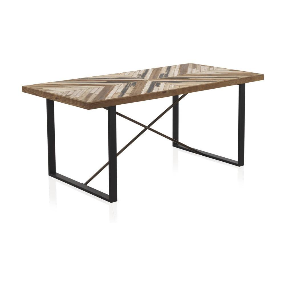 013e6bca6e29 Jedálenský stôl s kovovými nohami a doskou z recyklovaného dreva Geese 180  x 90 cm