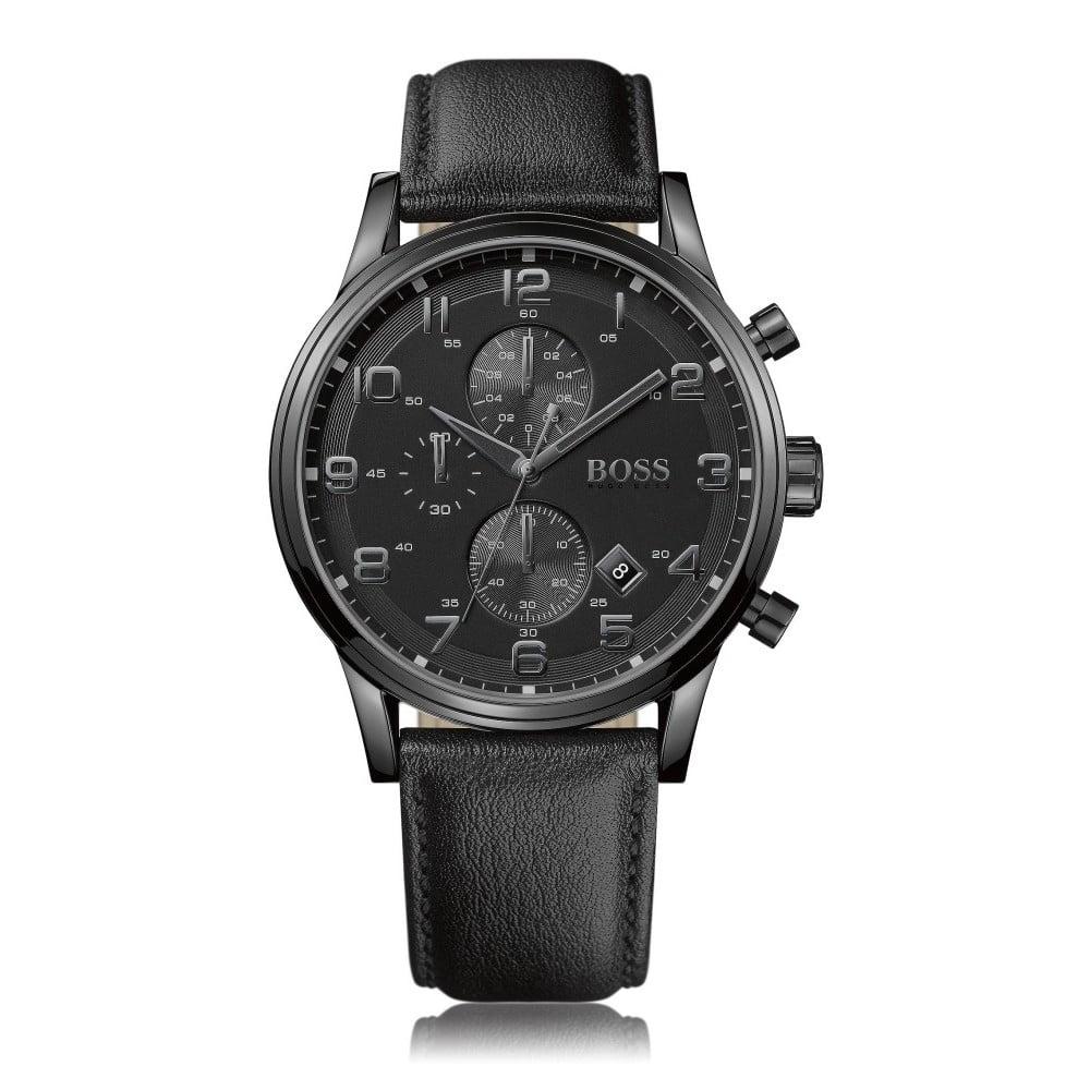 Pánske hodinky s koženým remienkom Hugo Boss Aden  e3eafbdb7cb