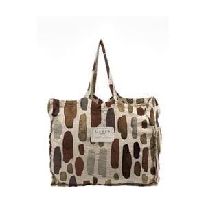 Látková taška Linen Geometric, šírka 50 cm