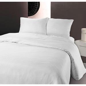 Biele obliečky z mikroperkálu na jednolôžko Sleeptime Dallas, 140×200 cm