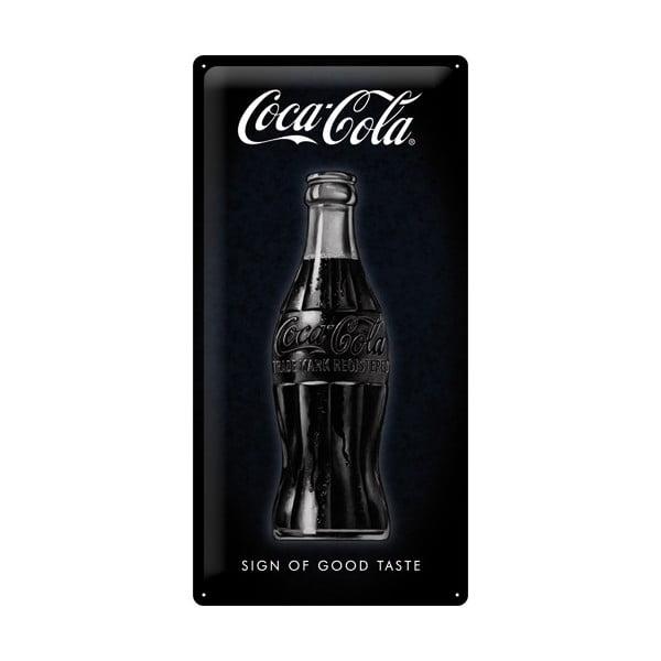 Plechová ceduľa Black Coke, 25x50 cm