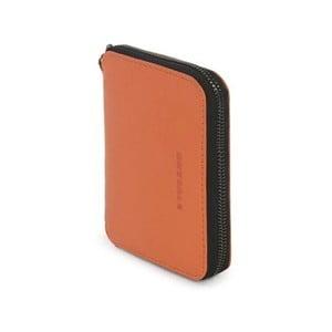 Oranžová peňaženka z talianskej kože Tucano Sicuro