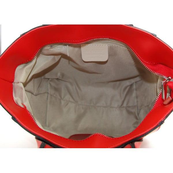 Kožená kabelka Filena Rosso