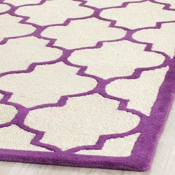 Vlnený koberec Everly Violet, 152x243 cm