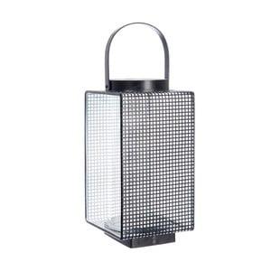 Lampáš Grid Black, 16x14x20 cm