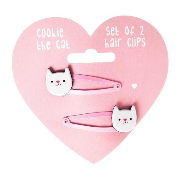 Sada 2 sponiek do vlasov Rex London Cookie The Cat