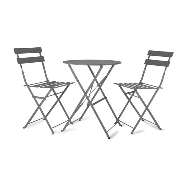 Zahradný stôl s 2 stoličkami Rive Bistro Grey