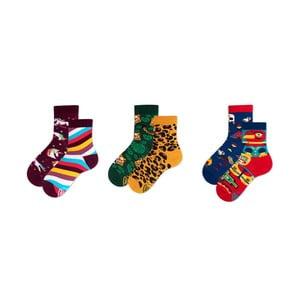 Sada 3 párov detských ponožiek v darčekovom balení Many Mornings Tribe, veľ. 31–34