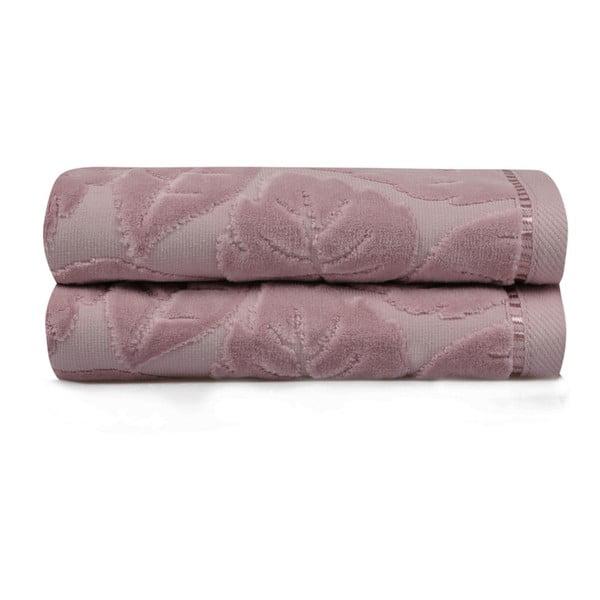 Sada 2 fialových uterákov Velver, 50×90 m