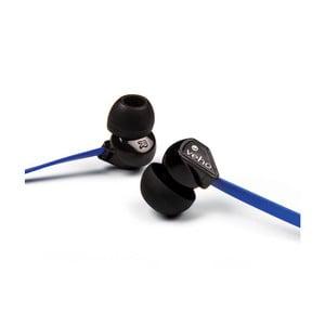 Modré slúchadlá do uší Veho Z1