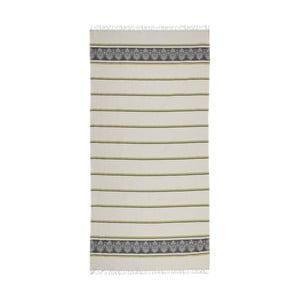 Sivo-béžová hammam osuška Deco Bianca Loincloth Stripe Nurbanu, 80x170cm