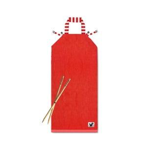 Červené plážové ležadlo Origama Red Stripes