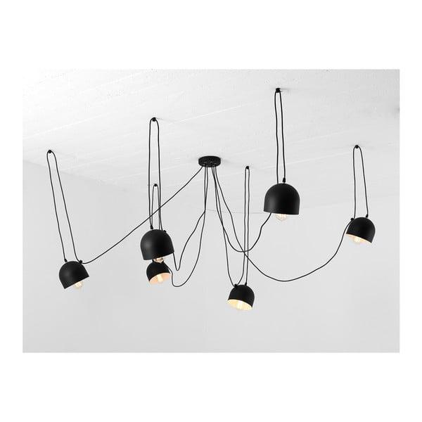 Čierne závesné svietidlo na 6 žiaroviek Custom Form Popo