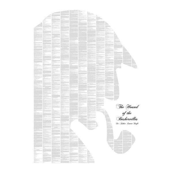 Knižný plagát Pes baskervillský, 70x100 cm