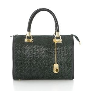 Sivá kožená kabelka Federica Bassi Eos
