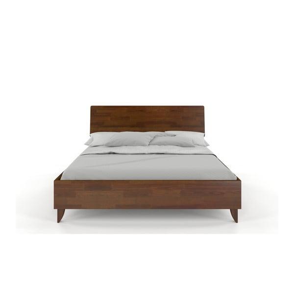Dvojlôžková posteľ z masívneho borovicového dreva SKANDICA Viveca Dark, 160 x 200 cm